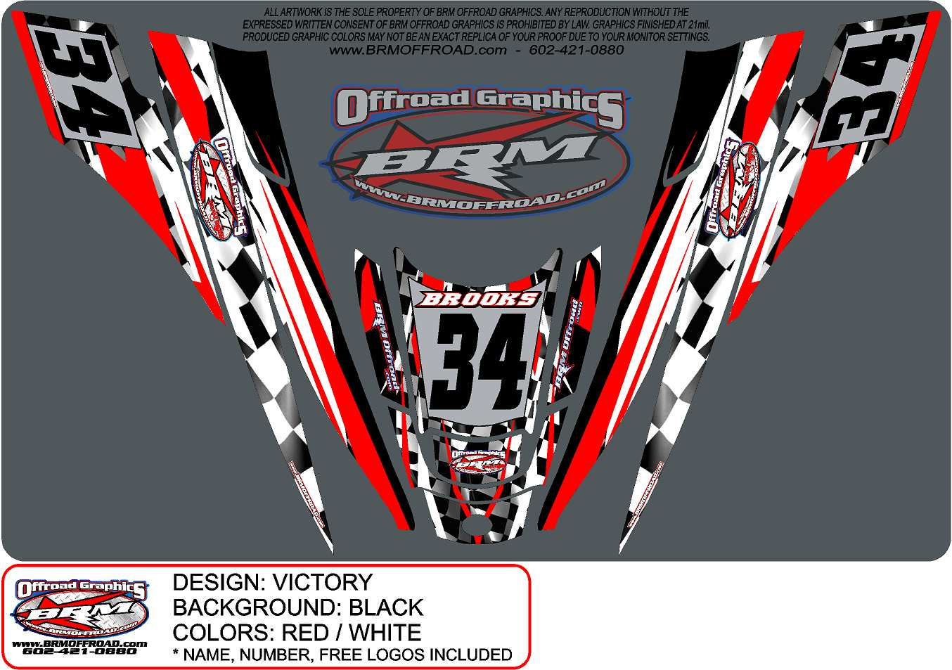 Brm Offroad Arctic Cat Zr 200 Snowmobile Graphics Sled
